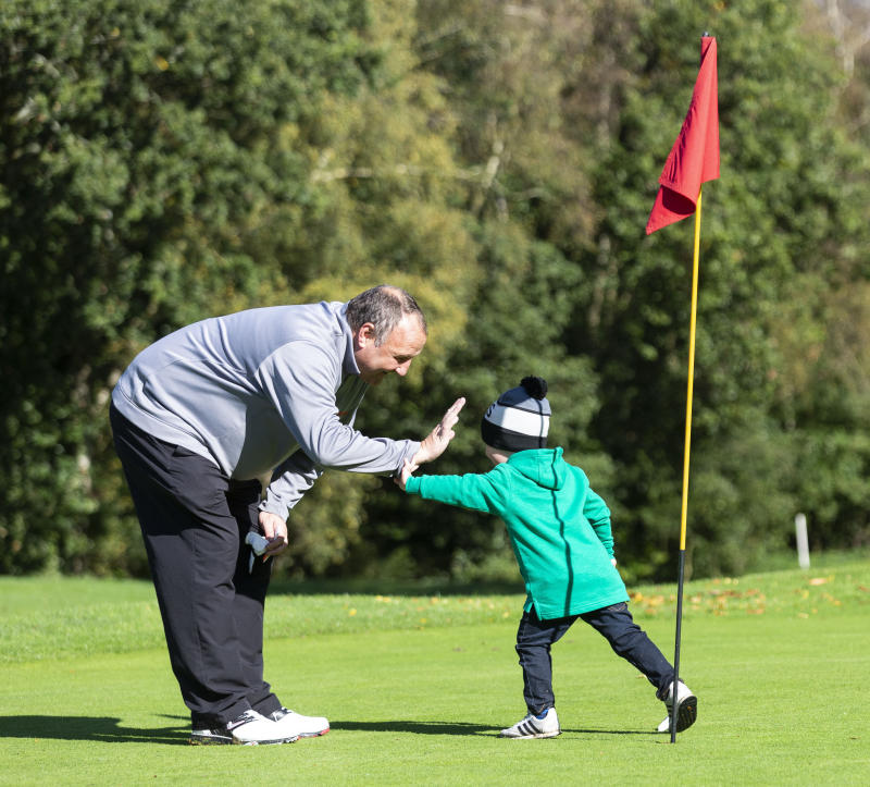 Grandad Tony bought George his first set of plastic golf clubs. (Credit: SWNS)