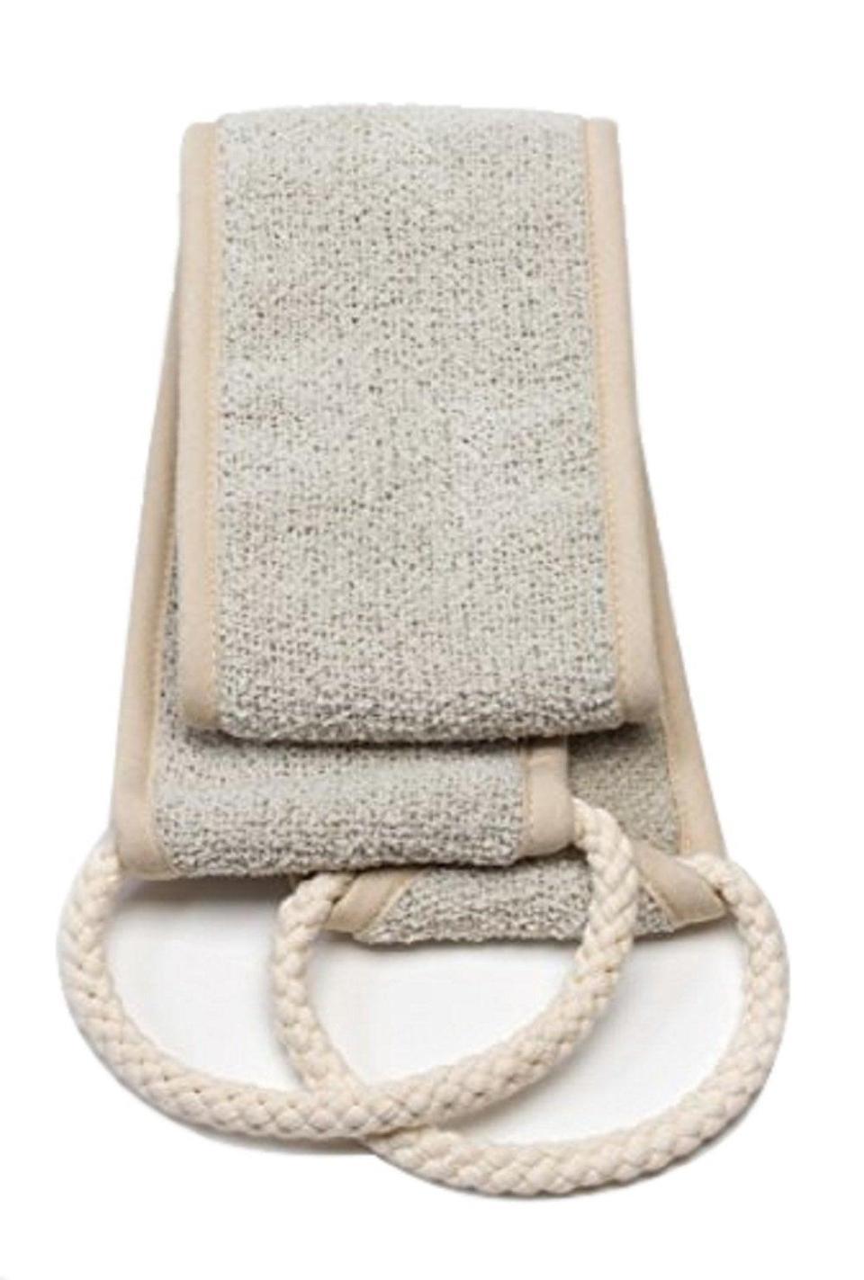 <p>Exfoliate hard to reach places with this <span>Aquis - Exfoliating Back Scrubber</span> ($12) for a deep clean.</p>