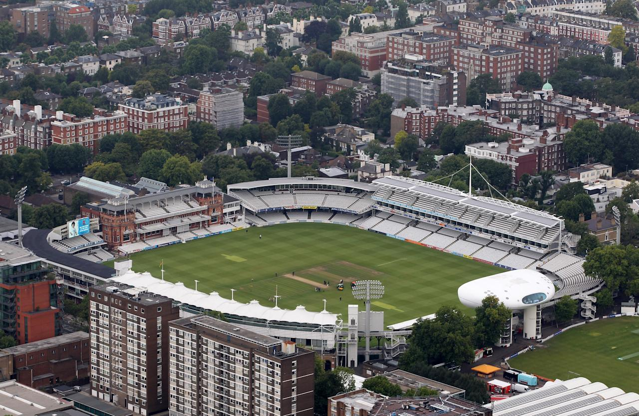 LONDON, ENGLAND - JULY 26:  Aerial view of Lord's Cricket Ground which will host Archery events during the London 2012 Olympic Games on July 26, 2011 in London, England.  (Photo by Tom Shaw/Getty Images)