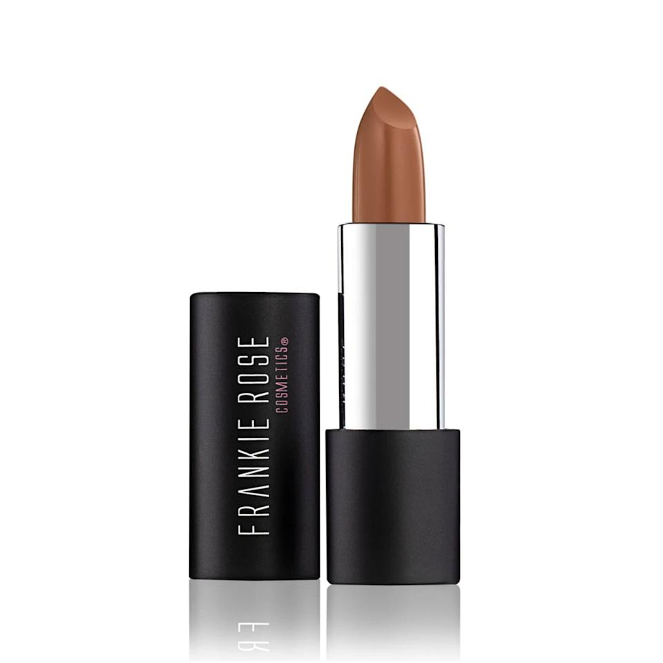 Thorp likes neutral lipsticks, like Frankie Rose Cosmetics in Toasty, when she wears bold outfits on date nights. (Photo: Frankie Rose Cosmetics)
