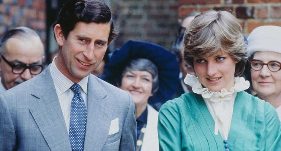 Prince Charles and Lady Diana Spencer opening the Mountbatten Exhibition at Broadlands.