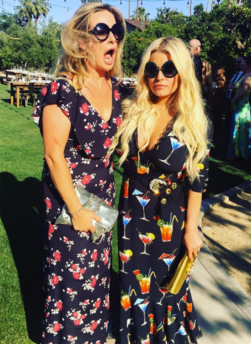 Jessica Simpson Wears A 4000 Cocktail Dress Literally To A