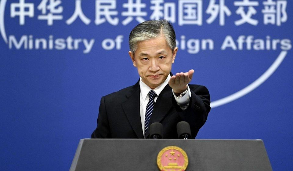 """Foreign ministry spokesman Wang Wenbin said the new law was """"part of China's normal legislative activities"""". Photo: Kyodo"""