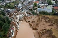 The town of Erftstadt was badly damaged by a landslide triggered by the floods