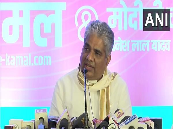 BJP leader Bhupender Yadav during media interaction in Patna on Saturday. (Photo/ANI)