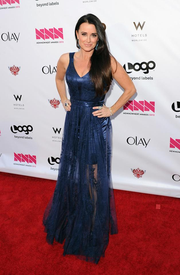 Kyle Richards arrives at LOGO's NewNowNext Awards at Avalon on April 5, 2012 in Hollywood, California.