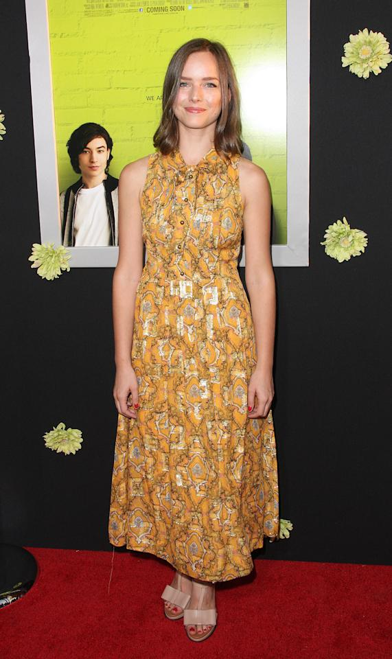 "HOLLYWOOD, CA - SEPTEMBER 10:  Actress Alison Miller attends the Premiere Of Summit Entertainment's ""The Perks Of Being A Wallflower"" at the Arclight Cinerama Dome on September 10, 2012 in Hollywood, California.  (Photo by Frederick M. Brown/Getty Images)"