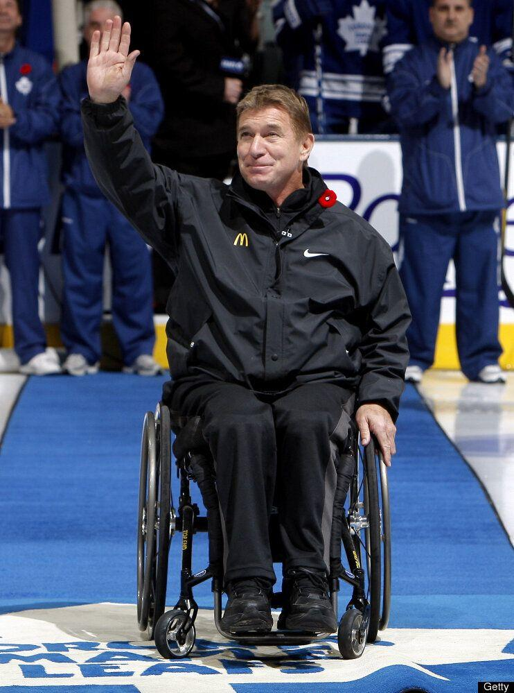 <strong>Why We Love Him:</strong> Decades after capturing world stage on his famous Man in Motion World Tour, Rick Hansen continues to inspire others living with disabilities. He has generated hundreds of millions of dollars for spinal cord research in his role as president and CEO of the Rick Hansen Foundation and he is an inspirational force for his three daughters, Emma, Alana, and Rebecca.