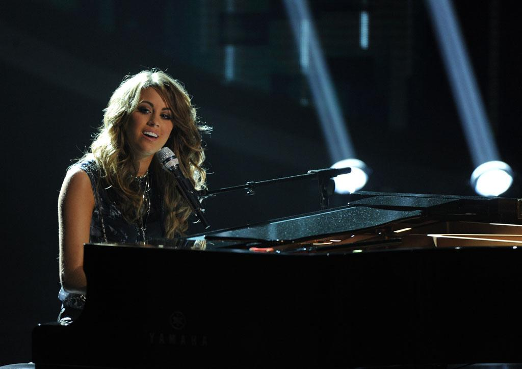 "Angie Miller performs ""Diamonds"" on the Wednesday, May 1 episode of ""American Idol."""