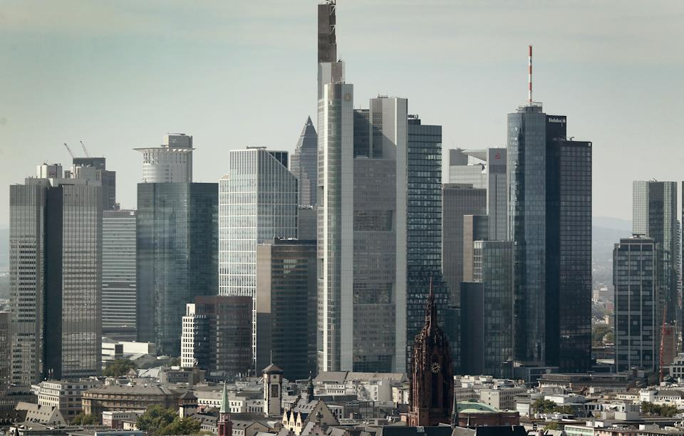 The Skyline of Frankfurt is pictured from the 27th floor of the European Central Bank in Frankfurt am Main, Germany, on September 14, 2020. (Photo by Daniel ROLAND / AFP) (Photo by DANIEL ROLAND/AFP via Getty Images)