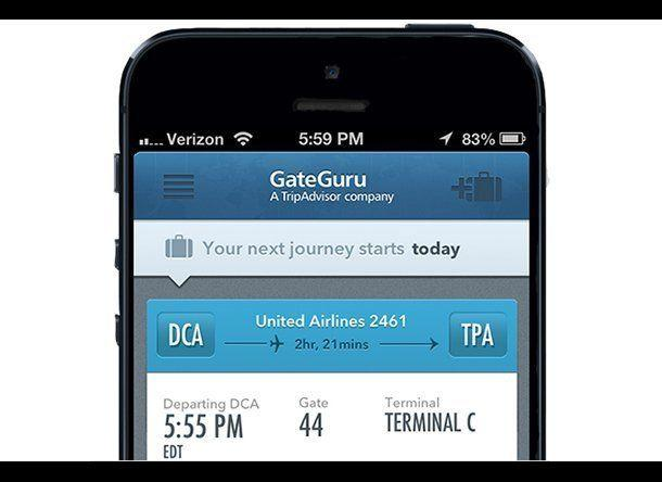 "If your itinerary includes a layover, download an airport-map app like airport <a href=""http://gateguru.com/"" target=""_blank"">GateGuru</a> to help you pass the time wisely. Not only does GateGuru show you the gate locations around the airport, it also displays the locations of important terminal amenities like restaurants, restrooms, and shops. <br><br> <strong>RELATED:</strong> <a href=""http://www.smartertravel.com/photo-galleries/editorial/best-apps-to-prevent-travel-disasters.html?id=800"" target=""_blank"">Best Apps to Prevent Travel Disasters</a> <br><br> (Photo: GateGuru)"