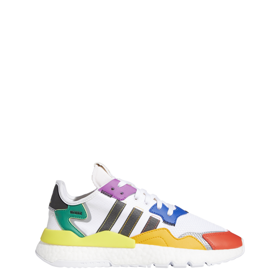 "<h2><a href=""https://www.adidas.com/us/pride"" rel=""nofollow noopener"" target=""_blank"" data-ylk=""slk:Adidas"" class=""link rapid-noclick-resp"">Adidas</a></h2> <br><br>To mark its continued partnership, which includes financial contributions and development of long-term programming, with LGBTQ+ organizations <a href=""https://www.athleteally.org/"" rel=""nofollow noopener"" target=""_blank"" data-ylk=""slk:Athlete Ally"" class=""link rapid-noclick-resp"">Athlete Ally</a> and <a href=""https://www.stonewallfoundation.org/"" rel=""nofollow noopener"" target=""_blank"" data-ylk=""slk:Stonewall"" class=""link rapid-noclick-resp"">Stonewall</a>, sports giant Adidas launched a shoe and apparel collection featuring LGBTQ+ flags to honor the community.<br><br><strong>Adidas</strong> Nite Jogger Pride Shoes, $, available at <a href=""https://go.skimresources.com/?id=30283X879131&url=https%3A%2F%2Fwww.adidas.com%2Fus%2Fnite-jogger-pride-shoes%2FFY9023.html"" rel=""nofollow noopener"" target=""_blank"" data-ylk=""slk:Adidas"" class=""link rapid-noclick-resp"">Adidas</a><br><br>"