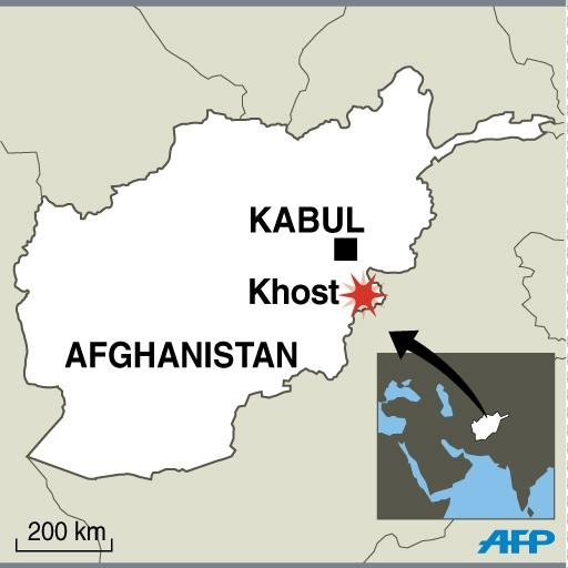 At least 18 people were killed in a suicide car bomb attack near a military base in Afghanistan's eastern province of Khost, where Afghan and foreign soldiers are stationed (AFP Photo/)