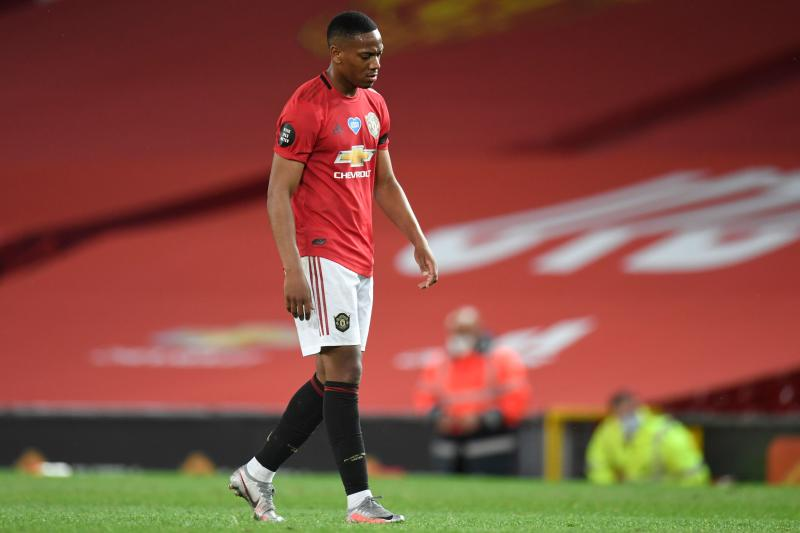 Anthony Martial scored one goal and set up another for Manchester United, but it wasn't enough as the Red Devils settled for a point against Southampton. (Peter Powell/Getty Images)