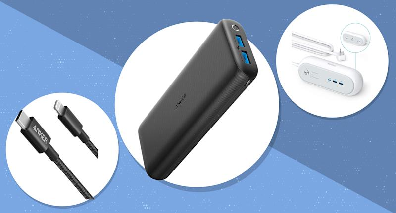Amazon is having a major sale today on Anker, a leading brand in tech accessories. (Photo: Amazon)