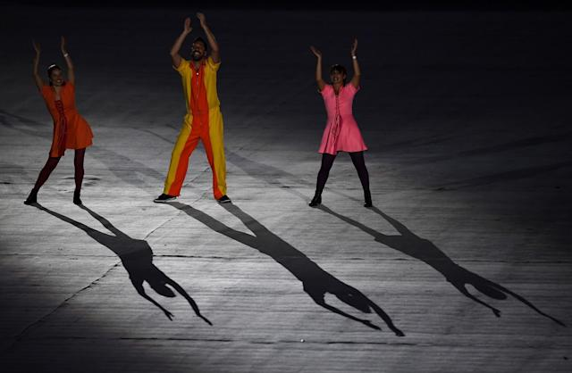 <p>The pre show gets underway prior to the Closing Ceremony on Day 16 of the Rio 2016 Olympic Games at Maracana Stadium on August 21, 2016 in Rio de Janeiro, Brazil. (Photo by Pascal Le Segretain/Getty Images) </p>