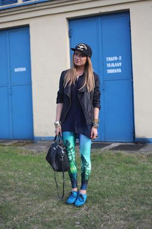 Black and Blue Biker Style At Poland Fashion Week