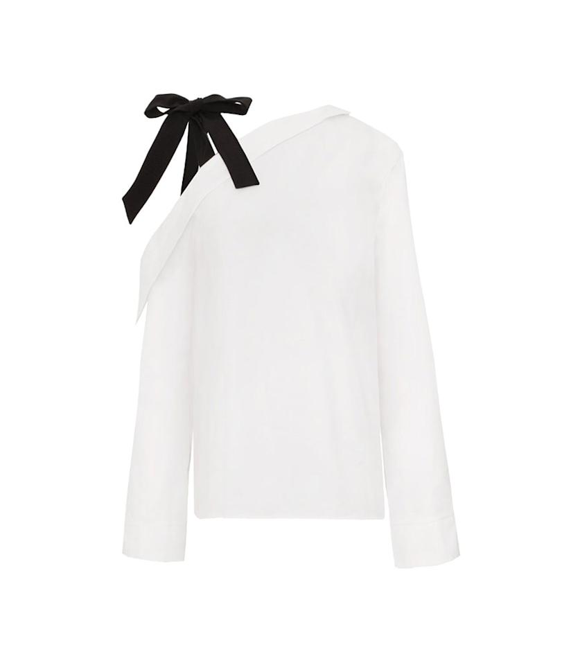 "<p>Charli One Shoulder Tie Strap Shirt, $92, <a rel=""nofollow"" href=""https://www.pixiemarket.com/products/charli-strap-one-shoulder-shirt"">pixiemarket.com</a> </p>"