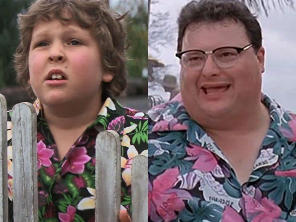 """Several of Dennis Nedry's outfits parallel costumes from """"The Goonies."""""""