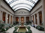"""<p>The Gilded Age mansion of industrialist Henry Clay Frick is one of the most visually interesting places to visit in the city today. But for the next two years, the Frick won't be where we've always known it. While the museum is being upgraded by architect Annabelle Selldorf,<a href=""""https://www.townandcountrymag.com/leisure/arts-and-culture/a35014852/the-frick-collection-temporary-location/"""" rel=""""nofollow noopener"""" target=""""_blank"""" data-ylk=""""slk:its treasures will be a few blocks away"""" class=""""link rapid-noclick-resp""""> its treasures will be a few blocks away</a>, in the Frick Madison, the building Bauhaus architect Marcel Breuer designed for the Whitney Museum of American Art in the mid-1960s.<br></p>"""