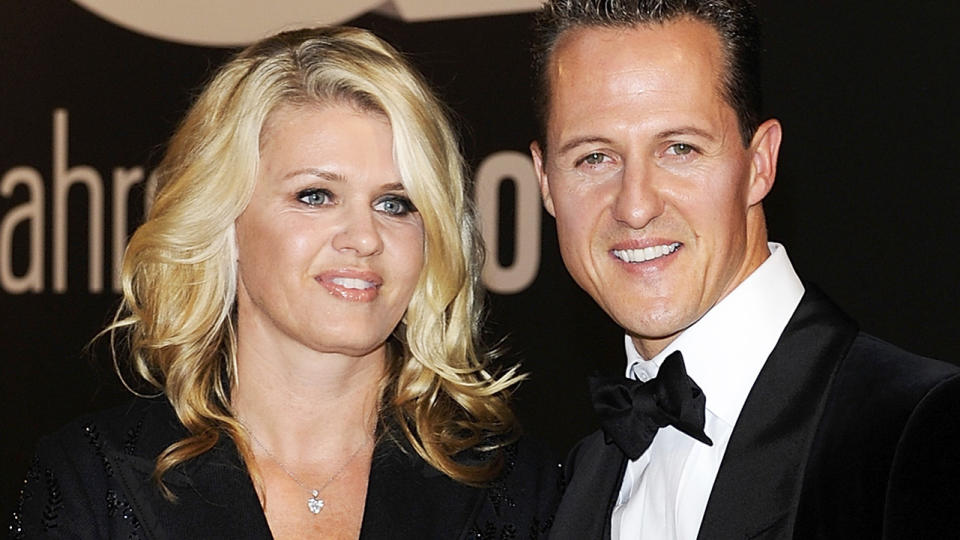 Corrina and Michael Schumacher, pictured here at the GQ Men Of The Year awards in 2010.