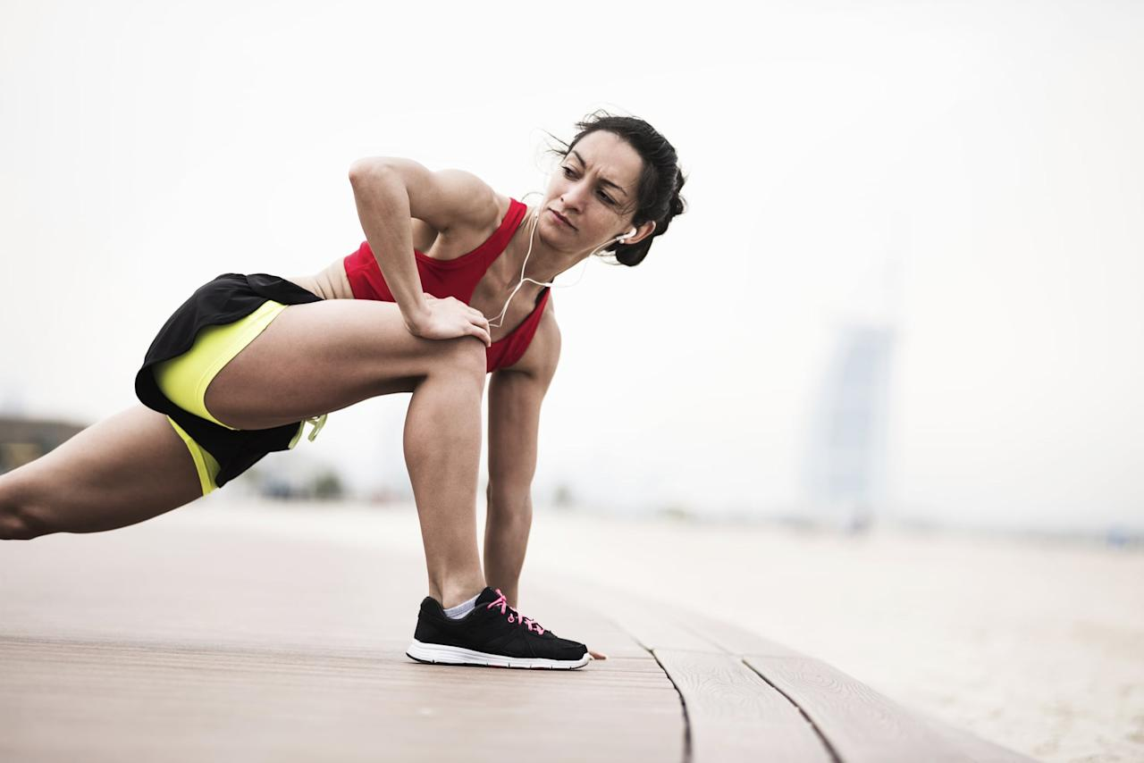 "<p>One of the best ways to prevent runner's knee is to avoid overuse, aka running too much. ""You shouldn't increase your mileage more than 10 percent per week,"" Dr. Pandya told us. A similar rule of thumb applies to increasing speed or hill training. ""You shouldn't introduce more than one or two new kind of workouts or types of training per week,"" Dr. Pandya said.</p> <p>He also recommended doing at least two-to-three core and glute workouts per week to work on strengthening those key muscles. That can help to take the strain off of your knees and relieve some of the pain. If you need a place to start, we recommend this three-minute <a href=""https://www.popsugar.com/fitness/3-Minute-Ab-Workout-Runners-46442996"" class=""ga-track"" data-ga-category=""Related"" data-ga-label=""https://www.popsugar.com/fitness/3-Minute-Ab-Workout-Runners-46442996"" data-ga-action=""In-Line Links"">plank workout for runners</a> and these simple <a href=""https://www.popsugar.com/fitness/Glute-Activation-Exercises-45164136"" class=""ga-track"" data-ga-category=""Related"" data-ga-label=""https://www.popsugar.com/fitness/Glute-Activation-Exercises-45164136"" data-ga-action=""In-Line Links"">glute activation exercises</a>.</p> <p>Finally, there's the stretching and flexibility aspect. If you're going to pick one area to stretch out, Dr. Pandya said, it should be your IT band. Loosening up that area on a regular basis, and especially before and after a run, can help prevent IT band tendinitis, a leading cause of runner's knee. Try these <a href=""https://www.popsugar.com/fitness/Best-Band-Exercises-34156649"" class=""ga-track"" data-ga-category=""Related"" data-ga-label=""https://www.popsugar.com/fitness/Best-Band-Exercises-34156649"" data-ga-action=""In-Line Links"">13 IT band exercises</a> to stretch and strengthen the area, and make sure to incorporate a foam roller to dig into the focal points of tension. Dr. Pandya also recommended stretching out your hamstrings, another neglected area for runners, most of whom tend to be quad-dominant.</p> <p>There's a lot going on with runner's knee, but it all boils down to fairly simple prevention and treatment techniques. Dr. Pandya summed it up for us: ""If runners don't overtrain, and then spend five to 10 minutes a couple times a week working on their core and on flexibility, that'll go a long way in terms of preventing runner's knee from happening.""</p>"