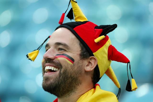Soccer Football - World Cup - Group F - Germany vs Sweden - Fisht Stadium, Sochi, Russia - June 23, 2018 Germany fan before the match REUTERS/Pilar Olivares