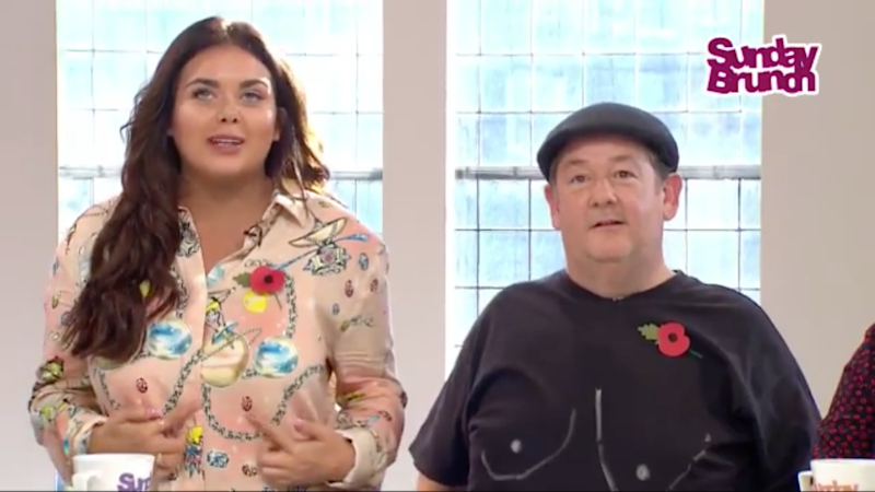 One of the presenters drew matching boobs on his T-shirt. Photo: Channel 4