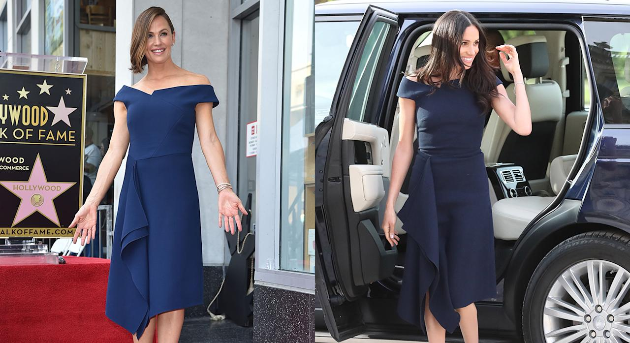 <p>On 20 August 2018, Jennifer Garner was given the official Hollywood stamp of approval with her very own walk of fame ceremony. And when you're acting royalty, name a greater opportunity to wear a number championed by the Duchess of Sussex herself? Yes, the actress looked to Meghan for inspiration and chose the very Roland Mouret dress the 37-year-old wore the evening before the royal wedding. <em>[Photo: Getty]</em> </p>