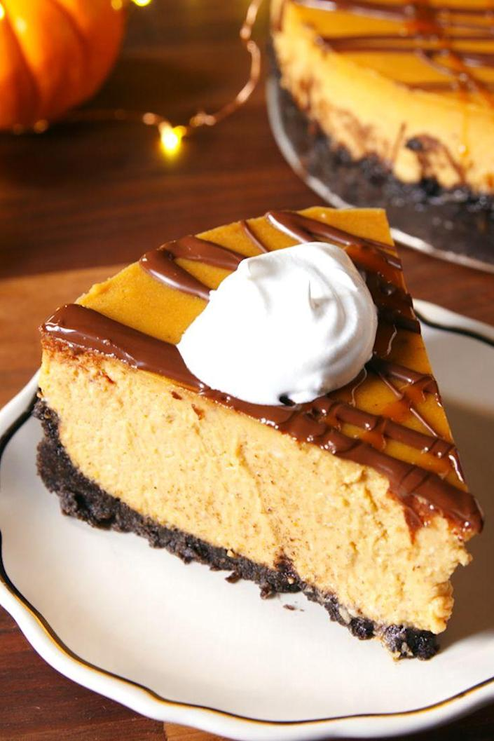 """<p>Pumpkin or chocolate? The answer is both.<br></p><p>Get the recipe from <a href=""""https://www.delish.com/cooking/recipe-ideas/recipes/a50173/chocolate-pumpkin-cheesecake-recipe/"""" rel=""""nofollow noopener"""" target=""""_blank"""" data-ylk=""""slk:Delish"""" class=""""link rapid-noclick-resp"""">Delish</a>.</p>"""