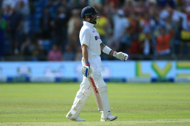 Key wicket - India captain Virat Kohli walks off after falling for 55 on the fourth day of the third Test against England at Headingley on Saturday (AFP/Lindsey Parnaby)