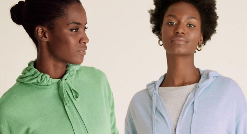 Marks and Spencer launches new Supersoft Hoodies and we predict the zip-ups will sell out fast.  (Marks and Spencer)