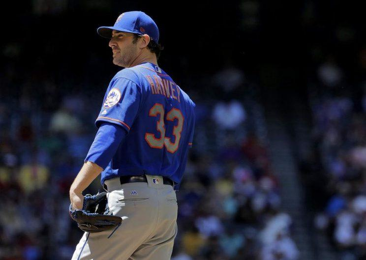 Mets starter Matt Harvey can't escape the drama, and his pitching struggles aren't helping. (AP)