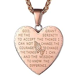 Bible Verse Necklace Prayer Pendant (Photo: Amazon)