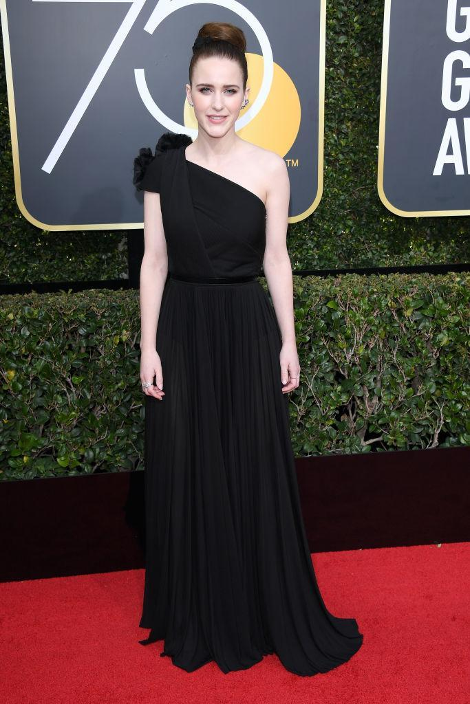 <p>Rachel Brosnahan, who won Best Actress in a TV Comedy for <i>The Marvelous Mrs. Maisel</i>, attends the 75th Annual Golden Globe Awards at the Beverly Hilton Hotel in Beverly Hills, Calif., on Jan. 7, 2018. (Photo: Steve Granitz/WireImage) </p>