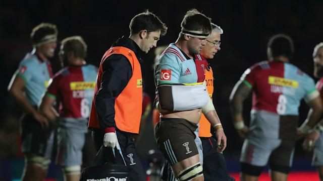 Back-row Jack Clifford has injured the same shoulder that he underwent surgery on six month ago.