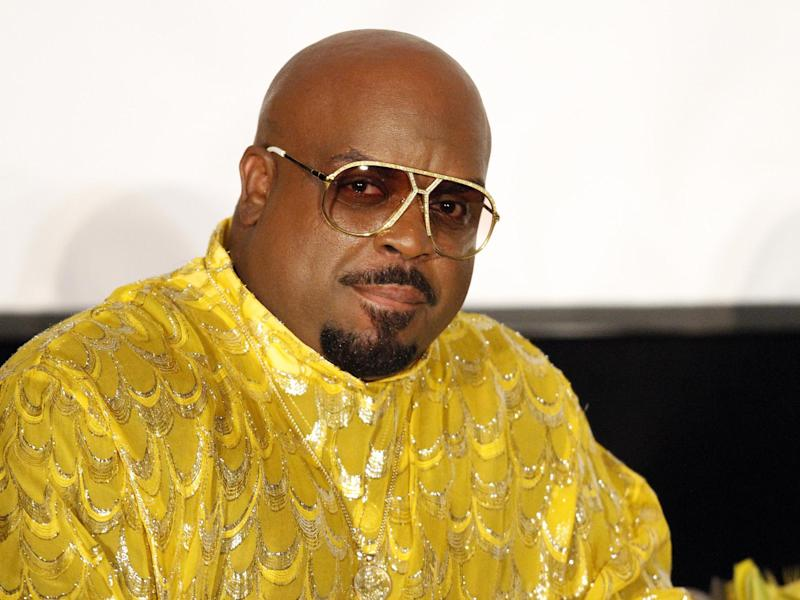 """FILE - In this Sunday, Sept. 29, 2013 file photo, singer/songwriter and rapper Cee Lo Green interviewed legendary artist Little Richard as part of the Recording Academy Atlanta Chapter's """"The Legacy Lounge"""" at the W Hotel, in Atlanta, Ga. Los Angeles prosecutors charged Green, whose real name is Thomas DeCarlo Callaway, with one felony count of furnishing a controlled substance on Monday, Oct. 21, 2013. The singer faces up to four years in prison if convicted. (Photo by Dan Harr/Invision/AP Images, File)"""