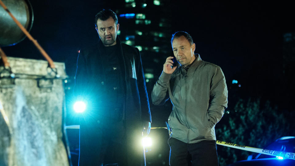 Daniel Mays and Stephen Graham return for the second series of buddy cop comedy series 'Code 404'. (Sky/Nick Wall)