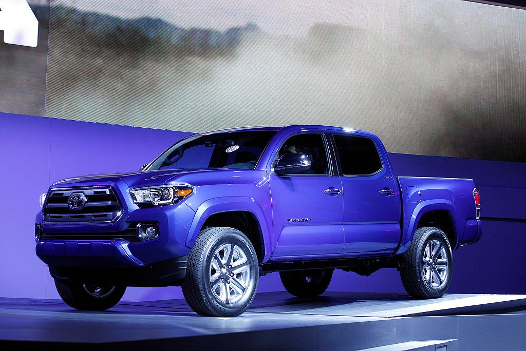 <p>Toyota Tacoma Double Cab long bed four-wheel-drive pickup<br />(Photo by Bill Pugliano/Getty Images) </p>