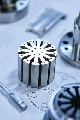 Synergy Mouldworks designed and manufactured this Complex wire-cut mold component for electrical winding with Cimatron