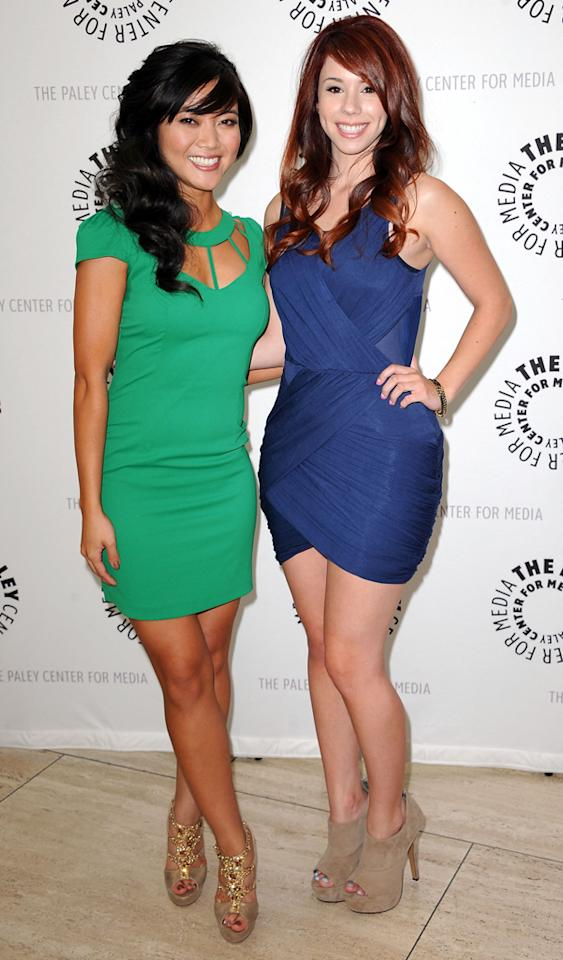 "Jessica Lu and Jillian Rose Reed arrive at the Season 2 premiere screening of ""Awkward"" at The Paley Center for Media on June 21, 2012 in Beverly Hills, California."