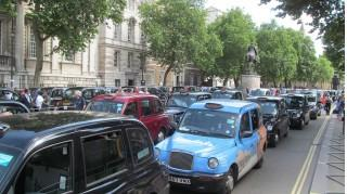 London anti-Uber taxi protest: June 11, 2014 (photo by Flickr user David Holt)