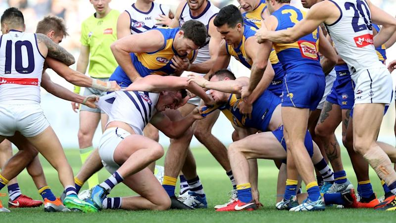 West Coast midfielder Andrew Gaff is facing a lengthy suspension after punching Andrew Brayshaw