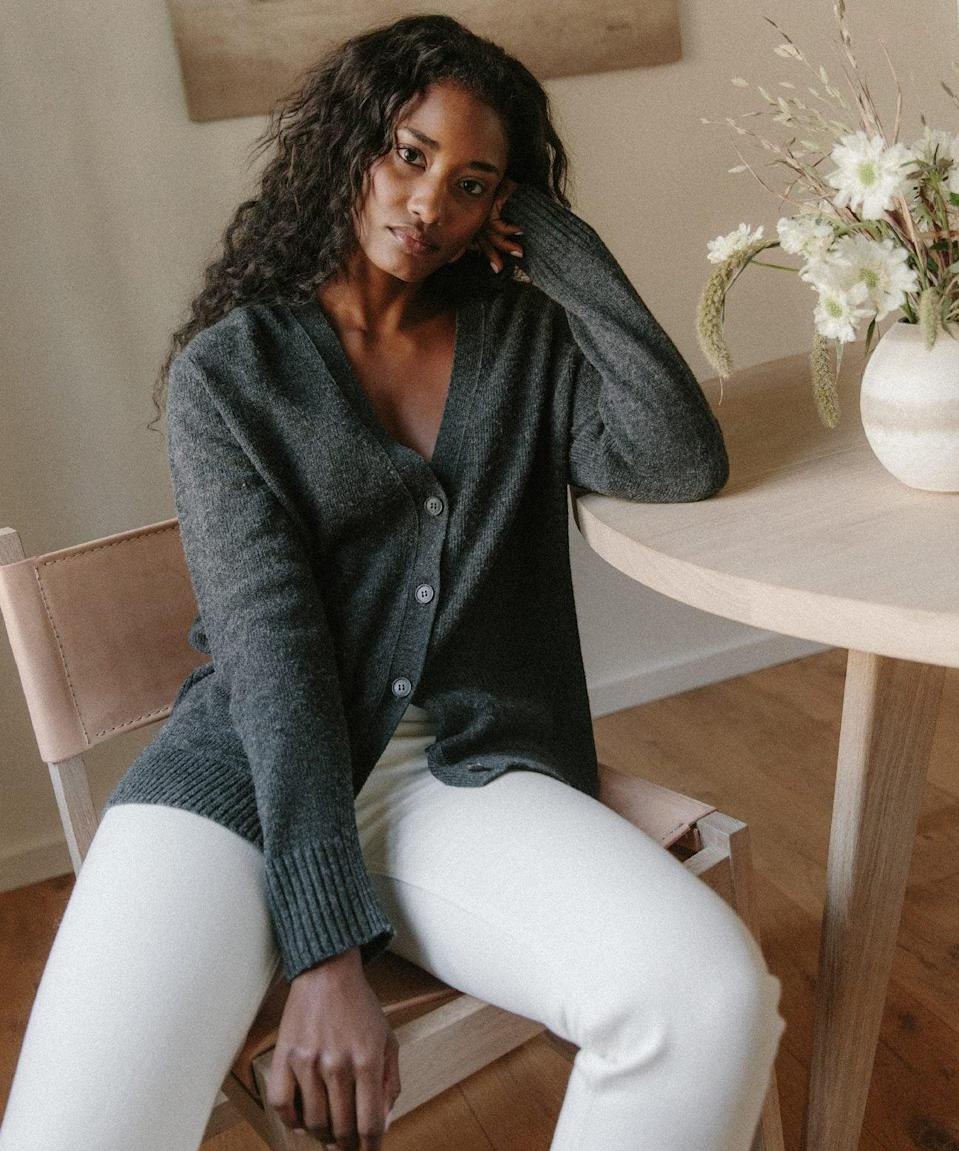 """<p>""""I've been eyeing this dream <span>Everyday Cardigan from Jenni Kayne</span> ($175) that I can live in for the next few months. It looks so cozy and I love that it has pockets so I can slip in my phone, ear buds, or lip balm at all times."""" - Lisa Sugar, POPSUGAR editor-in-chief</p>"""