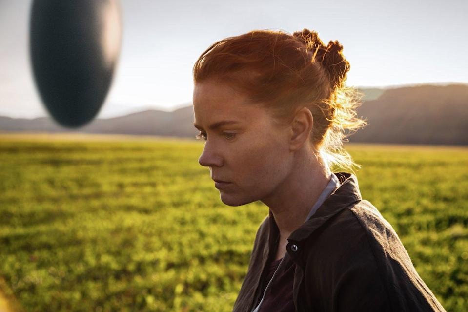 Amy Adams makes first contact in 'Arrival'. (Paramount)