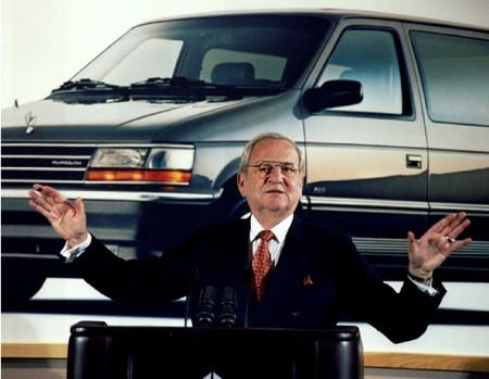 FILE PHOTO: Former Chrysler Chairman Iacocca is seen during a Chrysler briefing on earnings