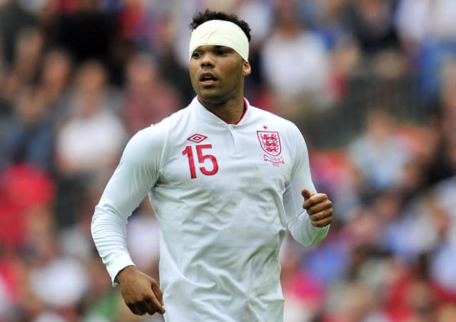 England's defender Joleon Lescott looks on during the international friendly football match against Belgium at Wembley Stadium in London, England on June 2, 2012. AFP PHOTO/GLYN KIRK NOT FOR ADVERTISING USE/RESTRICTED TO EDITORIAL USEGLYN KIRK/AFP/GettyImages