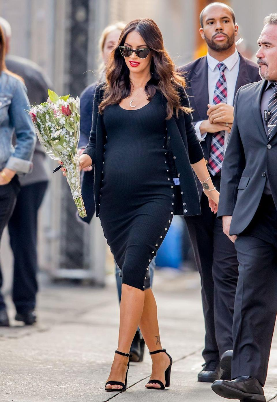 <p>Megan Fox opted for a monochromatic look that appears to be as comfortable as it is stylish.</p>