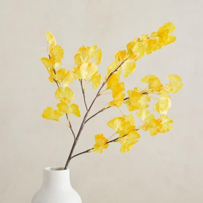 <p>This <span>Faux Gingko Branch</span> ($30) adds a fun touch to any space.</p>