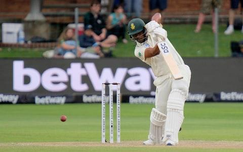 Vernon Philander drives the cricket ball - Credit: AP